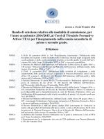 Bando TFA - Università Telematica eCampus