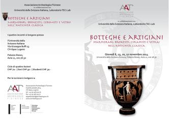 Botteghe e artigiani - associazione archeologica ticinese