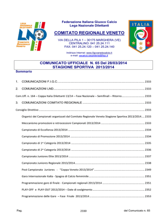 Com_N65_Unico - FIGC Veneto