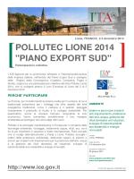 "POLLUTEC LIONE 2014 ""PIANO EXPORT SUD"""