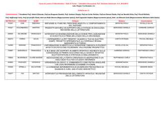 Calendario discussione Tesi