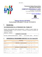 Com. Uff. LND PRI-SEC-JUR 16.10.2014