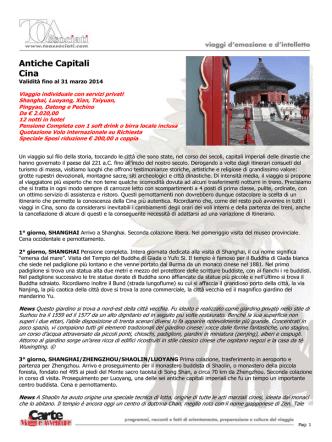 Antiche Capitali Cina