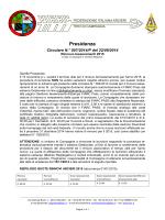 Circolare N.° 007/2014 - Rinnovo tesseramenti 2015