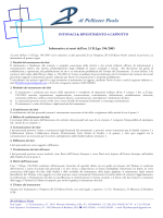 Informativa Privacy D.lgs. 196/2003