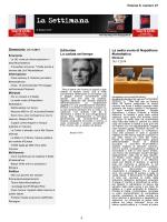 La Settimana - Beppe Grillo