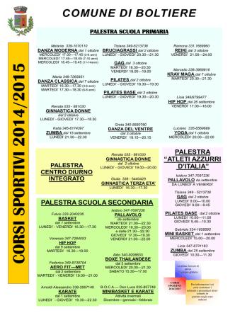 CORSI SPO RTIVI 2014 /20 15