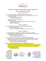 Programma in cantiere del Festival Biblico in data 3 febbraio 2014