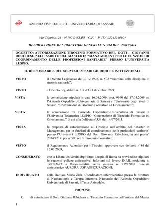 Delibera del 27 Marzo, n. 264 [file]