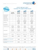 Visualizza il listino completo e servizi opzionali