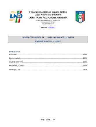 allievi regionali a1 - FIGC Comitato Regionale Umbria