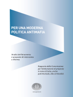 """Rapporto """"Per una moderna politica antimafia"""""""