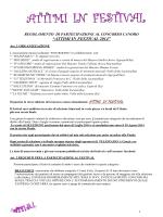 regolamento di partecipazione al concorso canoro