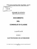 ESAME DI STATO DOCUMENTO DEL CONSIGLIO