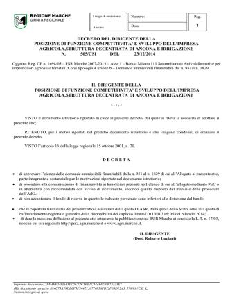 D.D.P.F. 505/CSI del 23/12/2014. - PSR 2007-2013