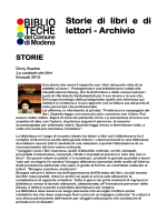 Storie di libri e di lettori - Archivio
