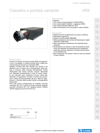 Cassetta a portata variabile VRX