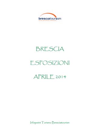 Calendario Esposizioni Aprile 2014