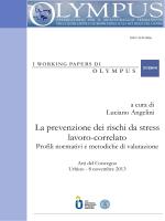 La prevenzione dei rischi da stress lavoro