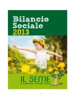 """Bilancio Sociale della Cooperativa """"Il Seme"""" – Anno 2013"""
