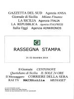 RASSEGNA STAMPA - Consorzio per le Autostrade Siciliane