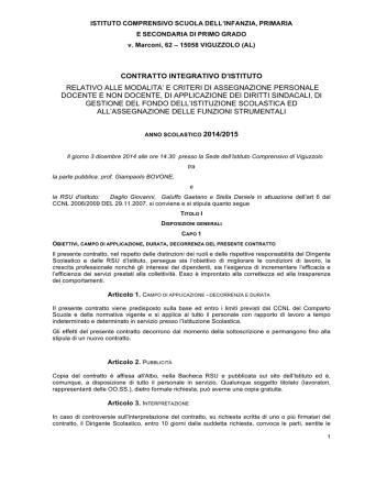 Contratto integrativo - Istituto Comprensivo di Viguzzolo