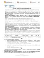 BANDO RECLUTAMENTO FORMATORI
