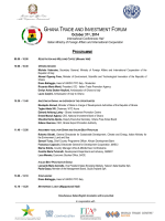 GHANA TRADE AND INVESTMENT FORUM