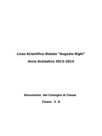 5D - Liceo Scientifico Statale A. Righi