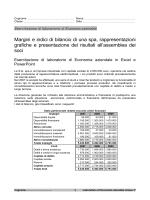 Margini e indici di bilancio di una spa, rappresentazioni grafiche e