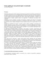 articolo LINEE GUIDA PER UNA PSICOTERAPIA