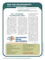 """Tam Tam Volontariato"" n. 376 del 04/12/2014"