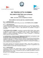 XIV Trofeo citta di Rimini regolamento