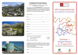 XIV Campus Musicale XIV Campus Musicale Sestriere (TO
