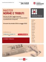 Master Norme e Tributi 2014