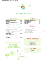 Menu del Salad Bar