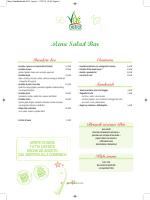 Menu del Salad Bar
