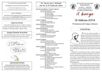 16 febbraio 2014 - Parrocchia San Giuseppe