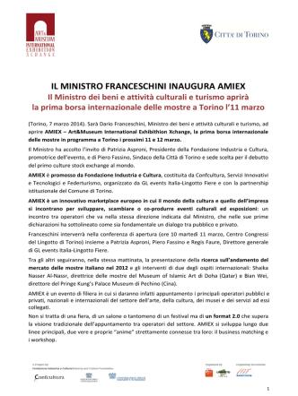 amiex - Ministero per i Beni e le Attività Culturali