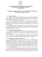 Regolamento Didattico del Corso di Laurea Magistrale a ciclo unico