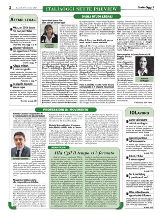 26/01/2015 Dagli Studi Legali ItaliaOggi7