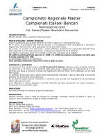 Campionato Regionale Master Campionati Italiani