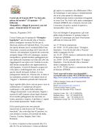 Comunicato Stampa Festa Veneziana Informazioni dettagliate sull