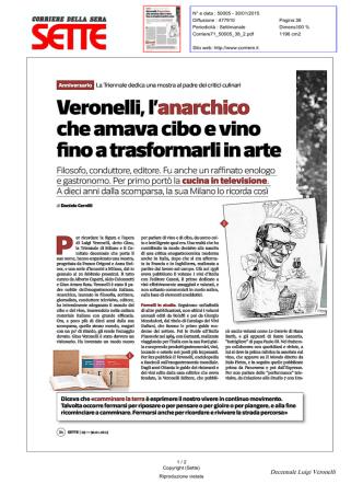 che amava cibo e vino - Luigi Veronelli