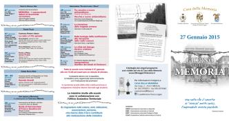 calendario Giorno della Memoria 2015