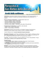 Avvisi della settimana (pdf) - Parrocchia di San Matteo della Decima