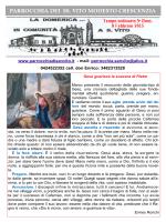 Foglietto Avvisi - Parrocchia di San Vito in Bassano del Grappa (Vi)