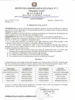 Graduatoria provvisoria ammessi al Corso ad Indirizzo Musicale