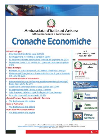 Cronache Economiche N.3 - Ambasciata d`Italia in Turchia
