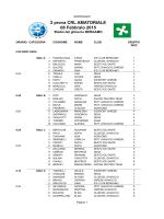 SORTEGGIO 2 Prova Amatoriale - Bergamo 8 febbraio 2015